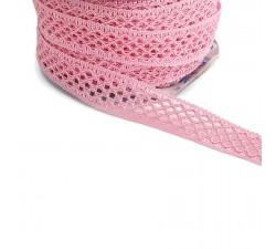 Lace Lace ribbon - Pink - 20 mm