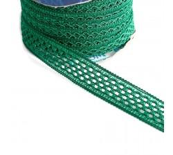 Lace Lace ribbon - Green - 20 mm babachic