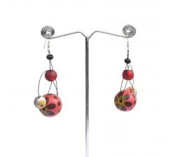 Earrings Earrings 6 cm - Cherry Babachic by Moodywood
