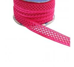 Lace Lace ribbon - Fuchsia - 20 mm babachic