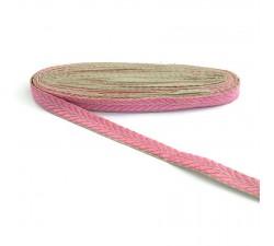 Bordado Galón bordado - Pétalos - Rosa y dorado - 20 mm babachic