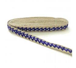 Galónes Galón espejos - Triángulo - Azul - 25 mm babachic