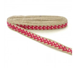 Braid Mirrors braid - Triangle - Fuchsia - 25 mm babachic