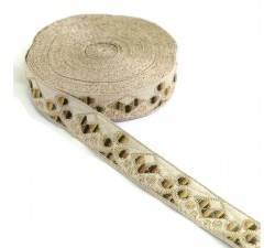 Ribbons Brown woven ribbon - Casino - 22 mm