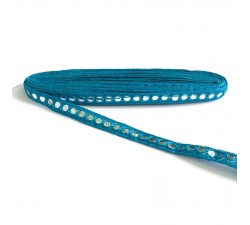 Braid Galon miroirs - Bleu - 18 mm