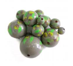 Fleurs Perle en bois - Grimpante - Gris et vert Babachic by Moodywood