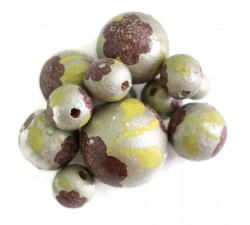 Perles en bois Perle en bois - Peltée - Argenté