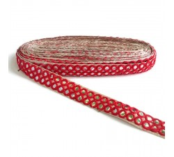 Galons Galon miroirs - Double ligne - Rouge - 30 mm babachic