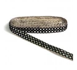 Braid Mirrors braid - Double line - Black - 30 mm babachic
