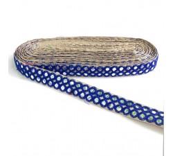 Braid Mirrors braid - Double line - Blue - 30 mm babachic