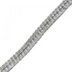 Fringe Tassels ribbon silver - 15 mm