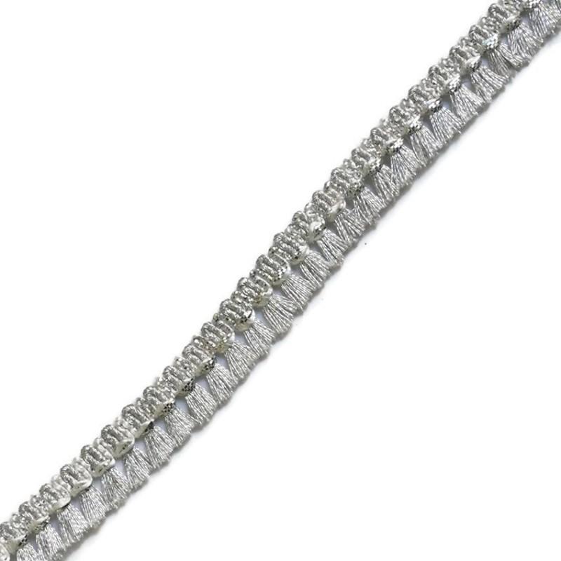Tassels ribbon silver - 15 mm