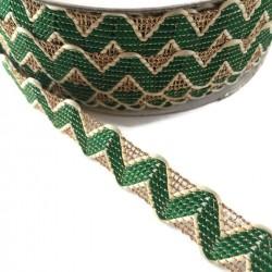 Croquets Croquet vert avec fil en lurex doré - 20 mm babachic