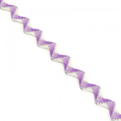 Ric Rac Cotton Rickrack braid with silvered lurex thread - 20 mm babachic