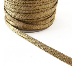 Braid Glazed ribbon - Gold - 7 mm