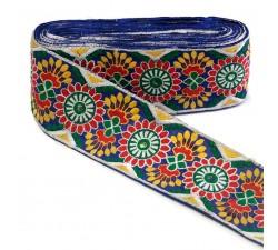Bordado Bordado Indio - Rojo, azul, verde y amarillo - 85 mm