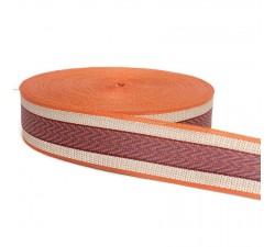 Sangles  Sangle plastique recyclé orange 55 mm  babachic