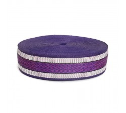 Sangles  Sangle plastique recyclé violet - Chevron - 55 mm  babachic