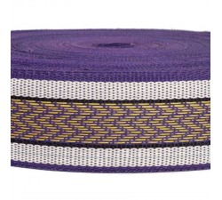 Straps  Recicled plastic purple strap - Chevron - 55 mm  SA55-012