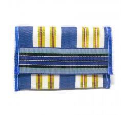 Wallets Recycled blue plastic wallet Babachic by Moodywood