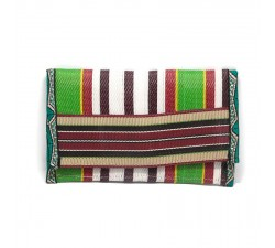 Wallets Recycled burgundy/green plastic wallet Babachic by Moodywood