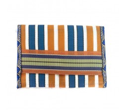 Wallets Recycled orange/blue plastic wallet Babachic by Moodywood