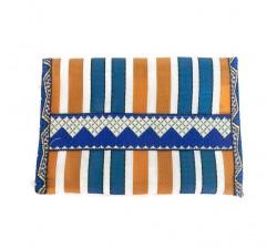 Portes-monnaie Porte-monnaie orange/bleu en plastique recyclé Babachic by Moodywood