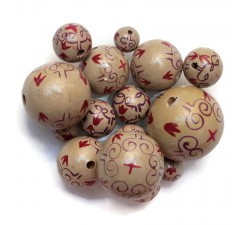 Royal Royal wooden beads - Beige Babachic by Moodywood