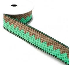 Ribbons Afro ribbon - Green jade - 35 mm babachic