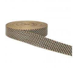 Ruban graphique - Damiers - Noir et blanc - 45 mm