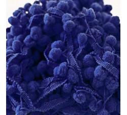 Les moyens Galon Pompons - Bleu nuit - 25 mm babachic