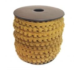Les minis Galon de mini pompons - Camel - 10 mm babachic
