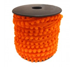 Les minis Galon de mini pompons - Orange - 10 mm babachic
