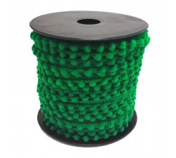 Los minis Gálon de mini pompones - Verde - 10 mm babachic