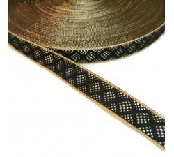 Ribbons Black and white ribbon - 15 mm babachic