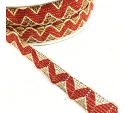 Croquets Croquet rouge avec fil en lurex doré - 20 mm babachic