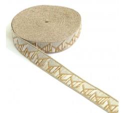 Ribbons Mountain ribbon - Silvered white - 20 mm babachic
