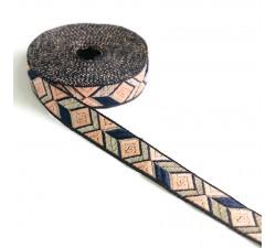 Rubans Ruban Graphique - Saumon - 20 mm babachic