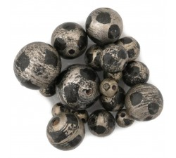 Moon Wooden beads - Moon - Silver, black Babachic by Moodywood