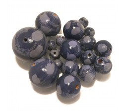 Moon Wooden beads - Moon - Blue Babachic by Moodywood