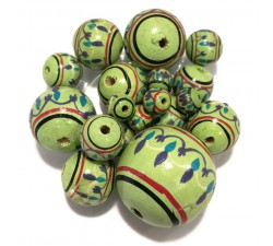 Lantern Lantern wooden beads - Pistachio Babachic by Moodywood