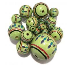 Lanterne Perles en bois Lanterne - Pistache Babachic by Moodywood