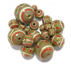 Lanterne Perles en bois Lanterne - Kaki Babachic by Moodywood