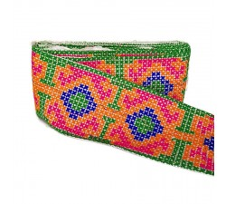 Embroidery Mexican border - Multi - 120 mm babachic