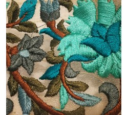 Broderies Broderie tulle en soie turquoise - 60 mm babachic