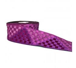 Bordado Cinta tejida magenta grande de 65 mm de ancho babachic