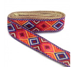 Embroidery Multicolor ethnic embroidery - Maya - 65 mm babachic