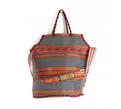 Bolsos XXL Bolsa de playa grande de color naranja y negro Babachic by Moodywood