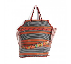 Sacs XXL Grand sac de plage couleur orange et noir Babachic by Moodywood