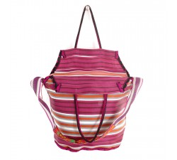 Bags Big magenta and orange color beach bag Babachic by Moodywood
